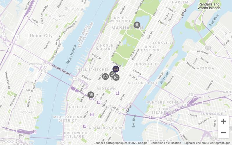 Map location Warwick New York