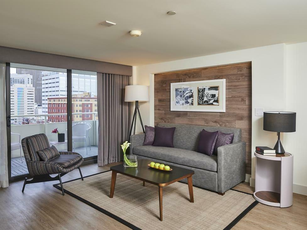 King Suite Living Room at Warwick Denver