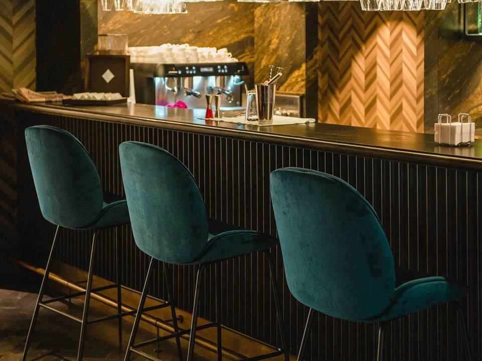 Sintonia bar art chairs at Gallery Hotel Barcelona