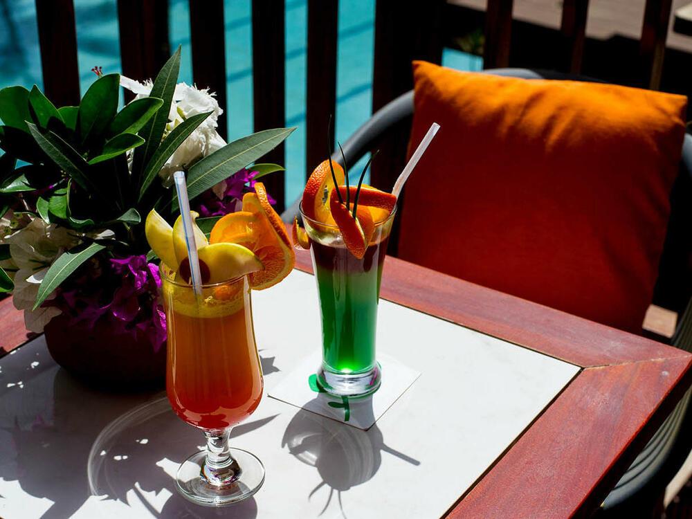 Cocktails balcony Hotel Jardin Savana Dakar