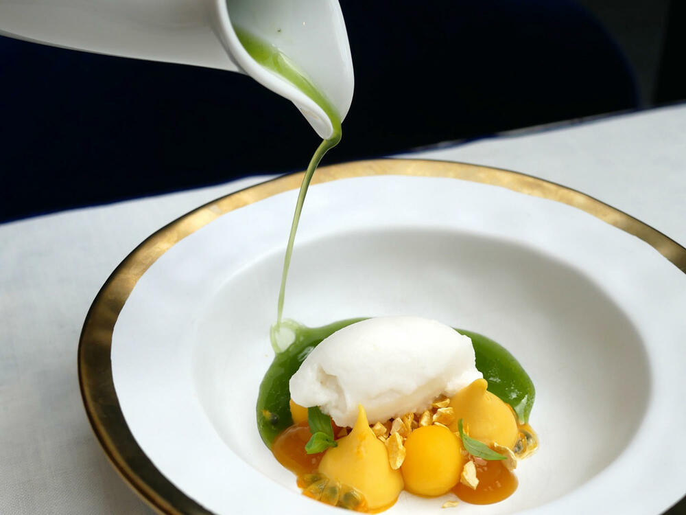 Sintonia food dish at Gallery Hotel Barcelona