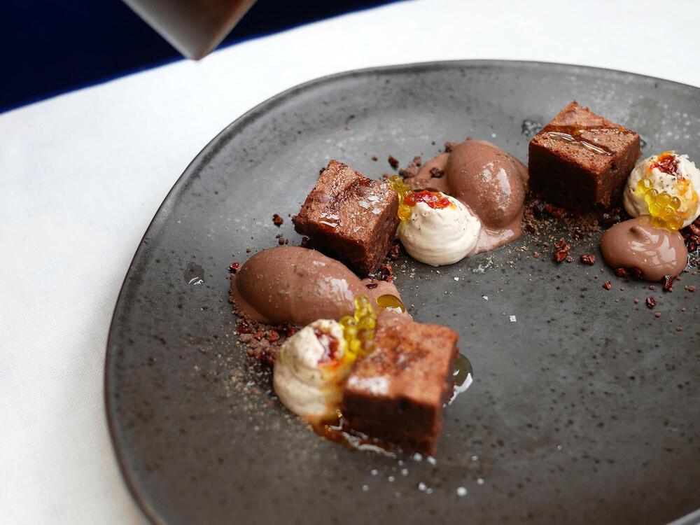 Sintonia chocolate dish at Gallery Hotel Barcelona