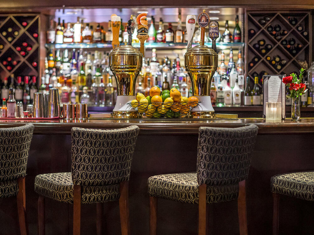 Margaux's Lounge Bar with plenty of drinks and fruit