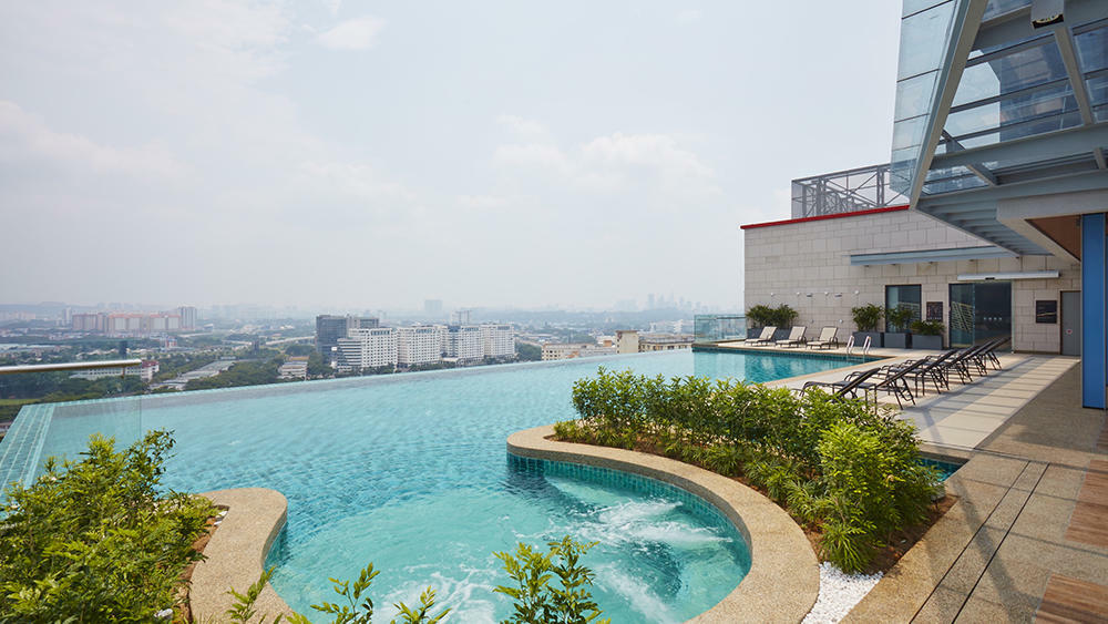 Swimming Pool Hotel With Rooftop Pool Kl Sunway Velocity Hotel