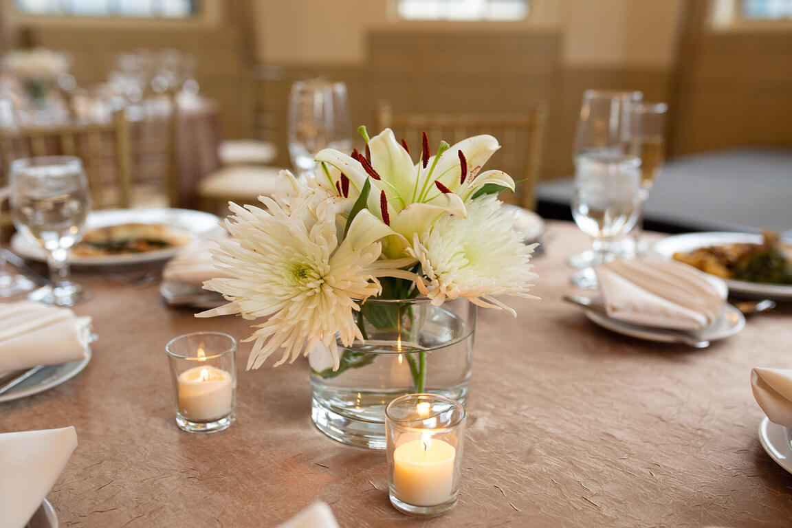 Warwick Allerton Wedding table with candles