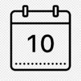 black & white calendar icon at NOI Casa Atacama hotel