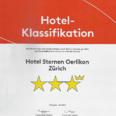 Hotel classification - sternen oerlikon