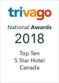 Trivago Top Ten 5 Star Hotel Canada logo