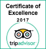 Tripadvisor Certificate of Excellence for Two Seasons Hotel & Ap