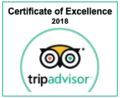Tripadvisor Certificate of Excellence of Two Seasons Hotel & Apa