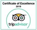 Tripadvisor Certificate of Excellence of Two Seasons Hotel & Apa