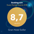 Booking.com Award 2019 - Gran Hotel Soller