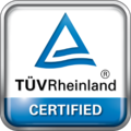 TÜV Rheinland certified logo
