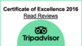 TripAdvisor Certificate of Excellence for Narcissus Hotel & Spa