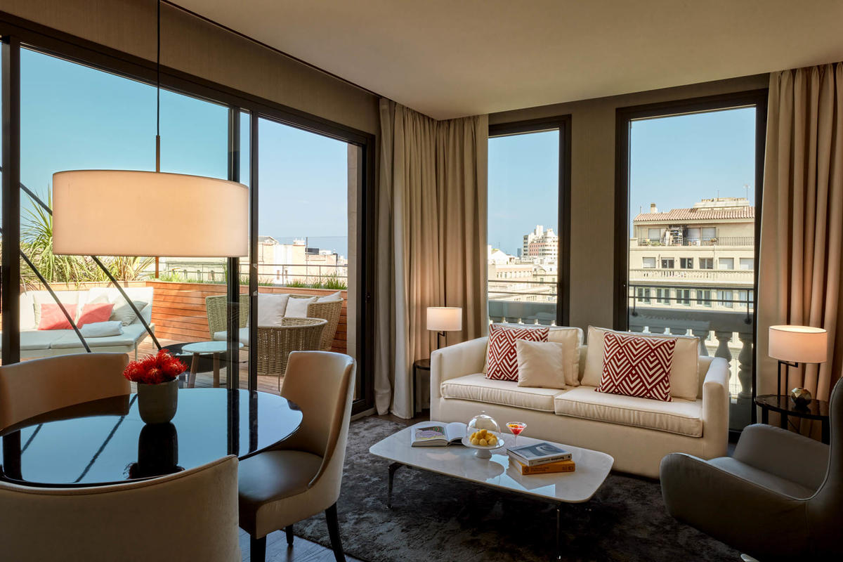 3 Room and Suite Sofa view at Almanac Barcelona