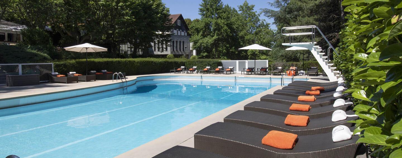 Pool at Domaine de Divonne Hotel in Divonne-les-Bains, France