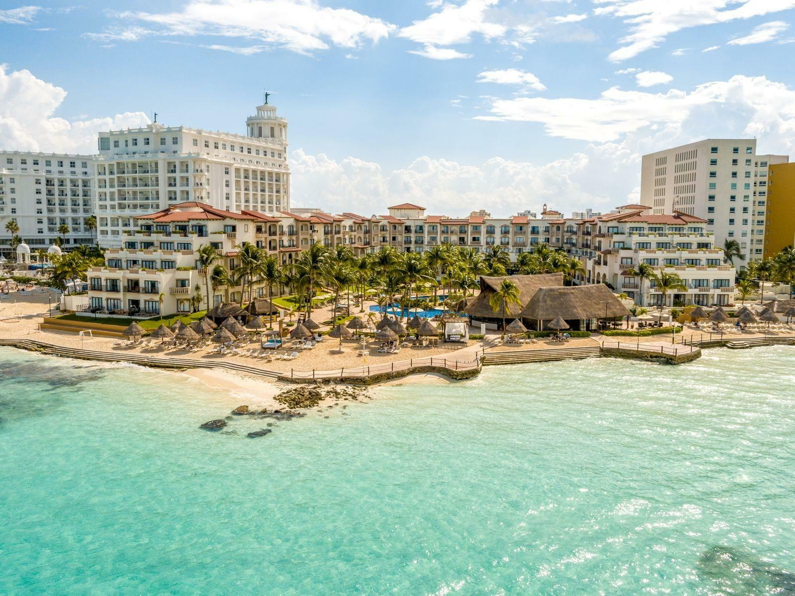 Beach and hotel Arial