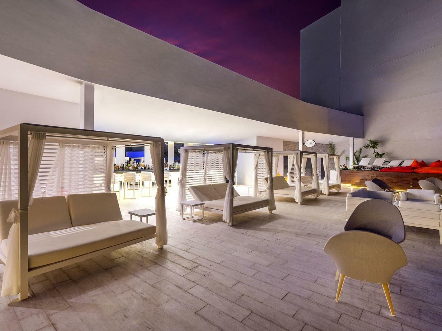Divina Skybar Lounge Chairs at Grand Fiesta Americana Puerto Vallarta All Inclusive Adults Only