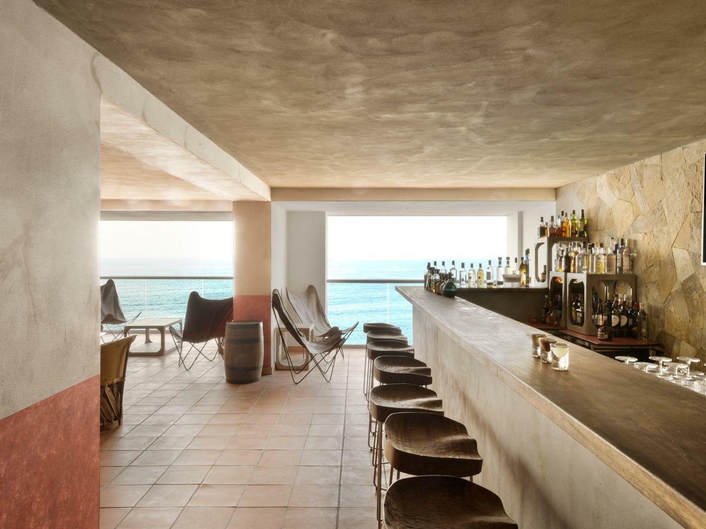 Bar overlooking the Sea