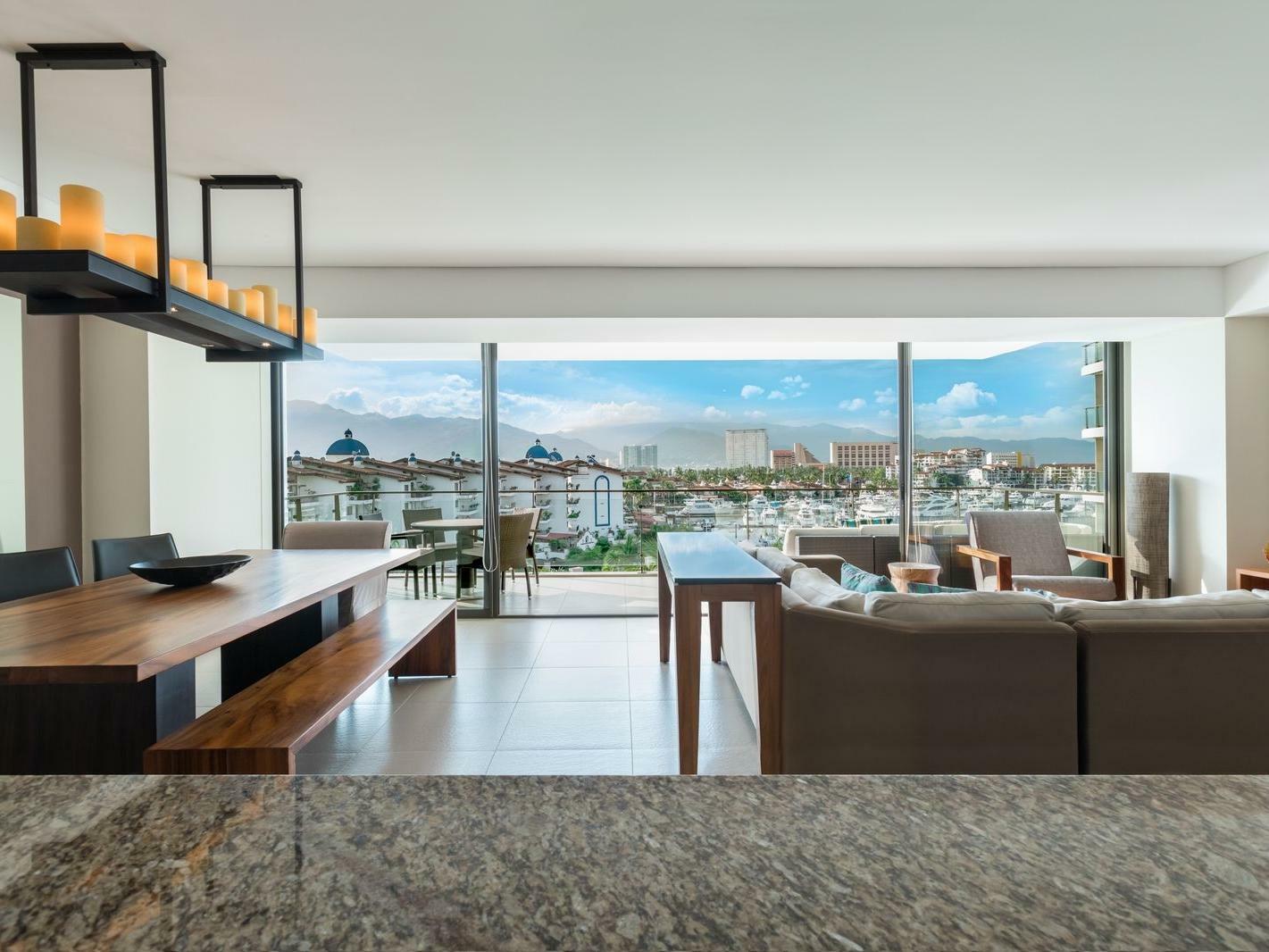 Living area in Suites