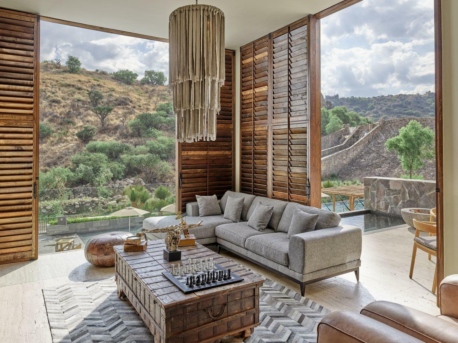 Suite with view of mountains