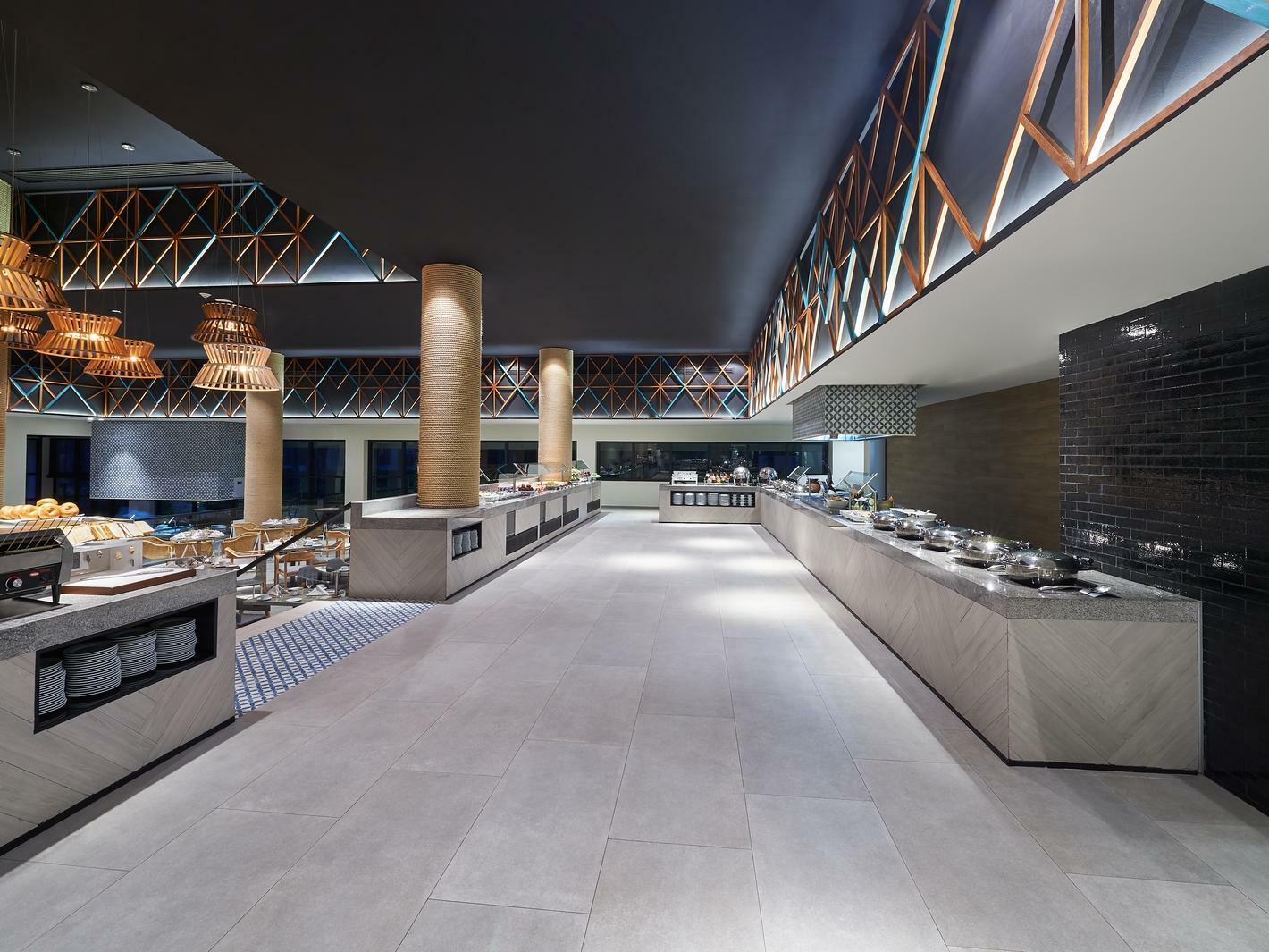 restaurant buffet tables