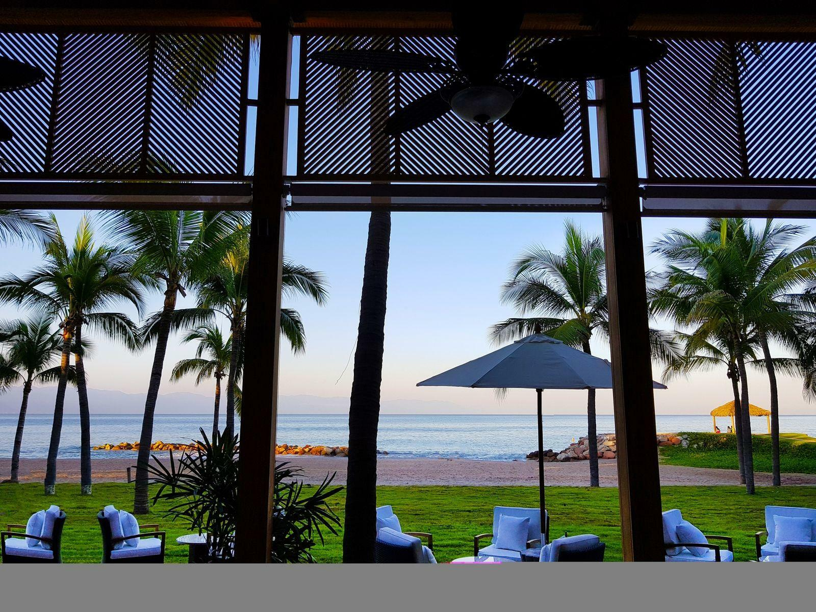 beach view from dining room