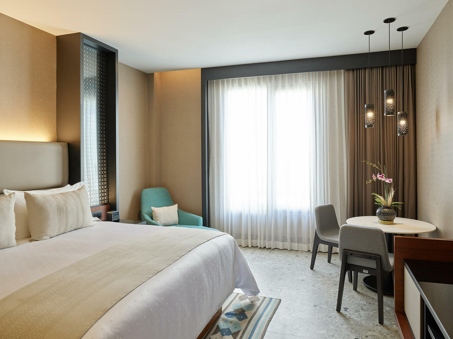 Deluxe room with king bed at Grand Fiesta Americana Oaxaca