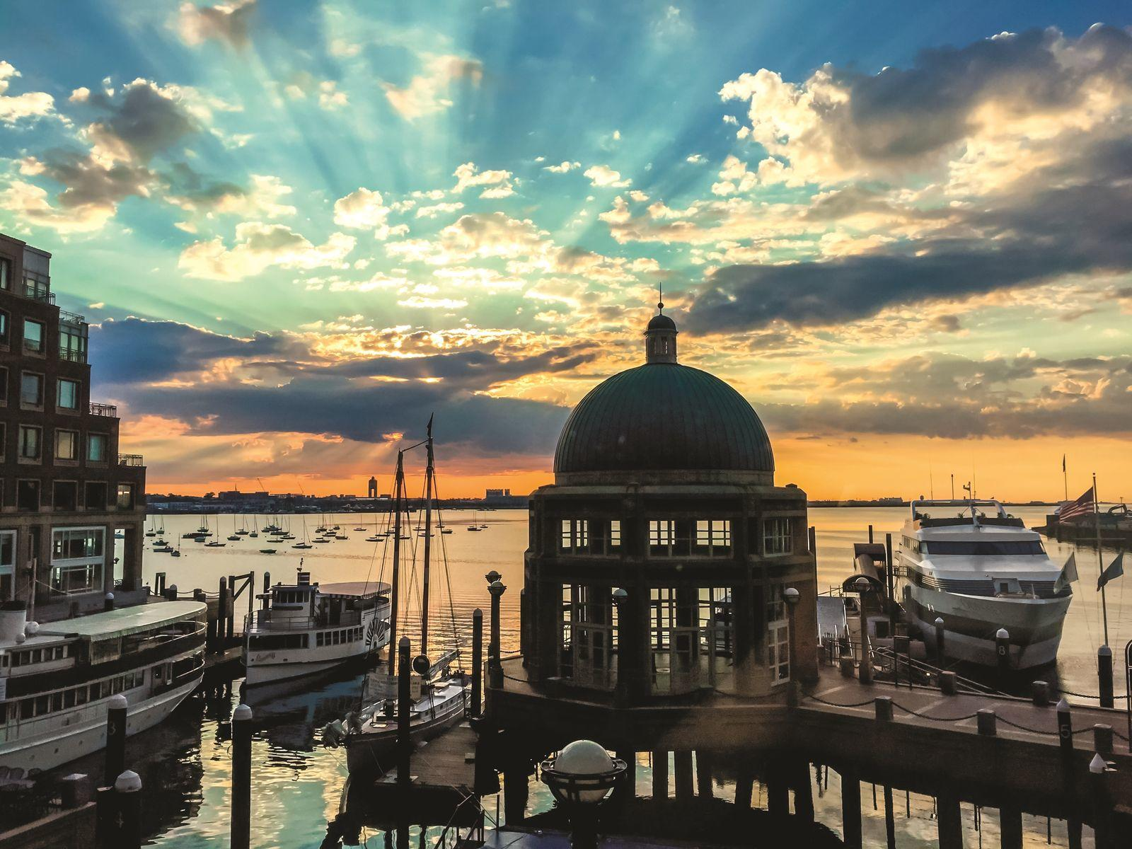 Boston Harbor at sunrise