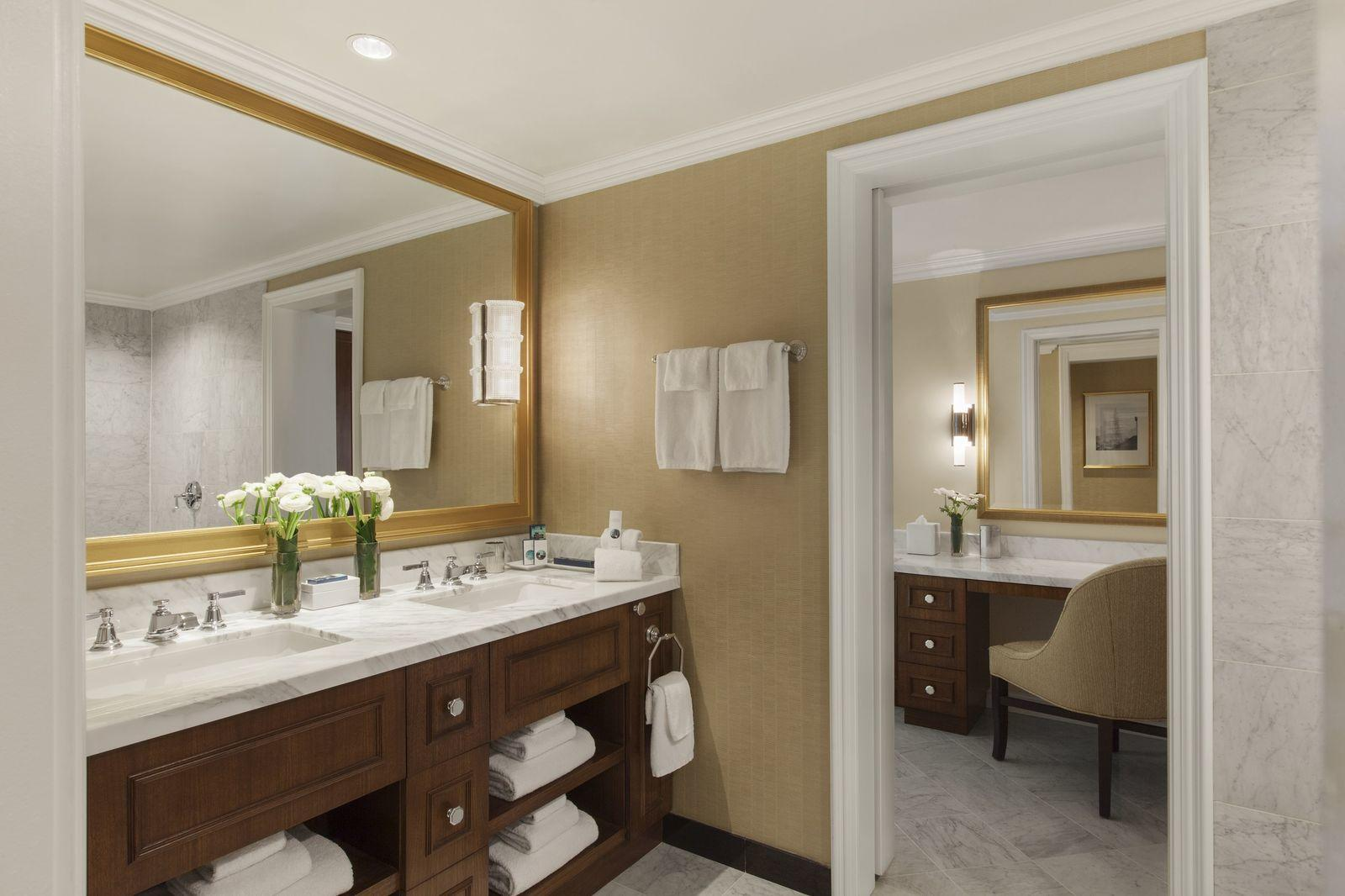 Expansive hotel bathroom