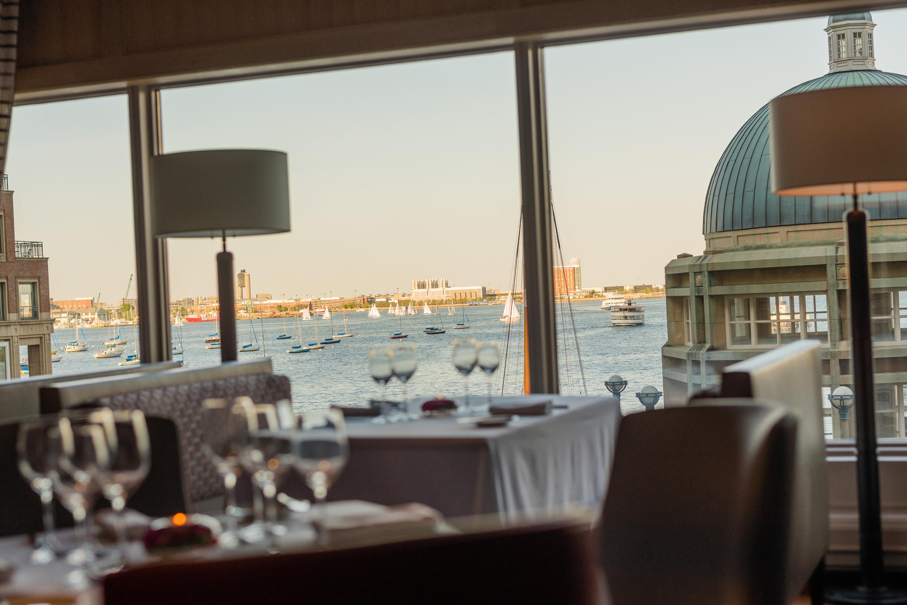 View of Boston Harbor from Meritage Restaurant