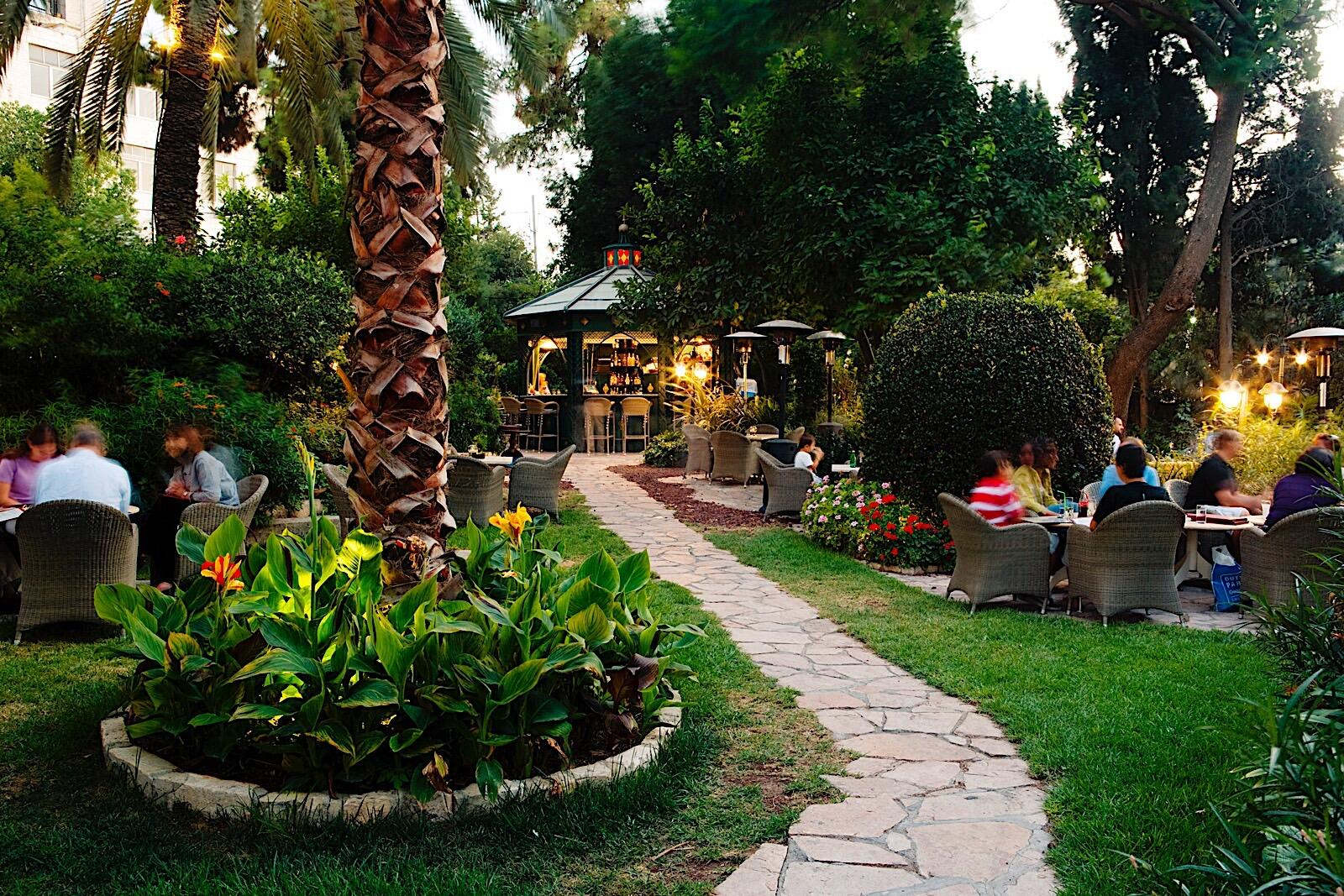 Summer bar at The American Colony Hotel in Jerusalem