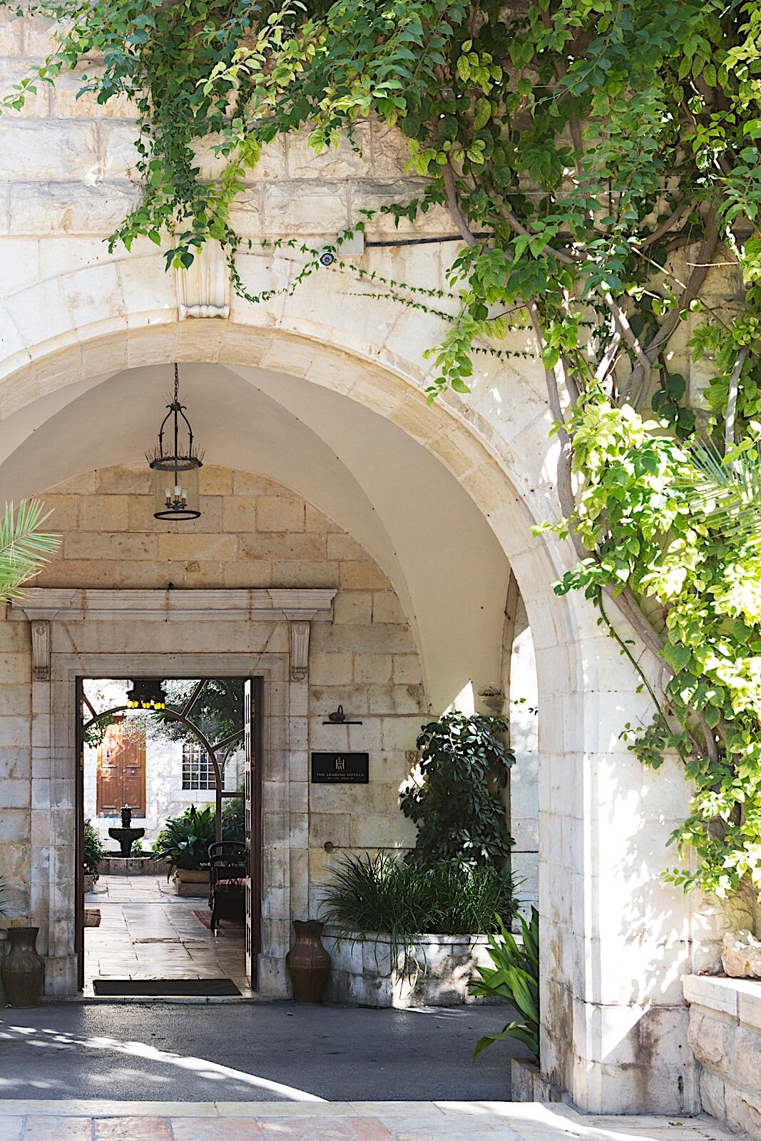 Entrance of The American Colony Hotel in Jerusalem