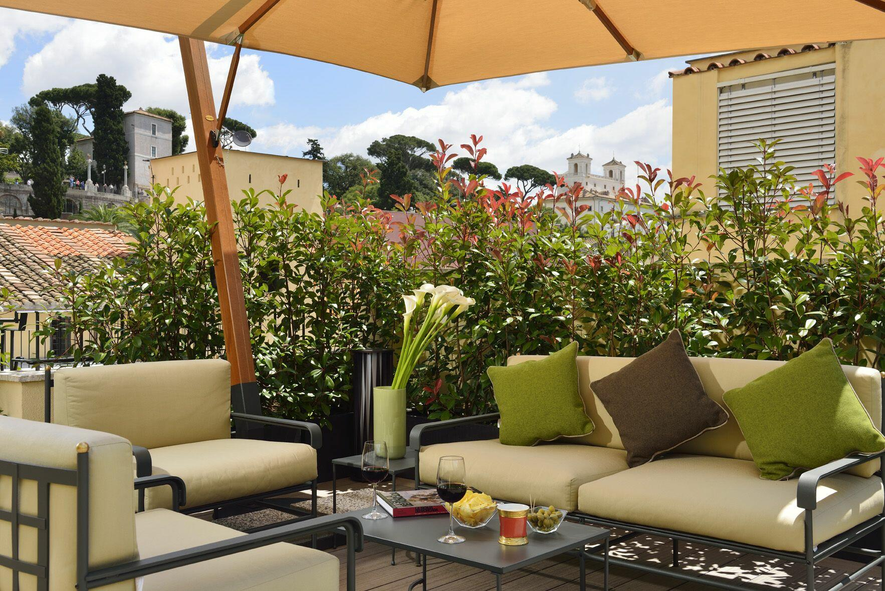 Terrace of the patrizi suite at hotel babuino 181