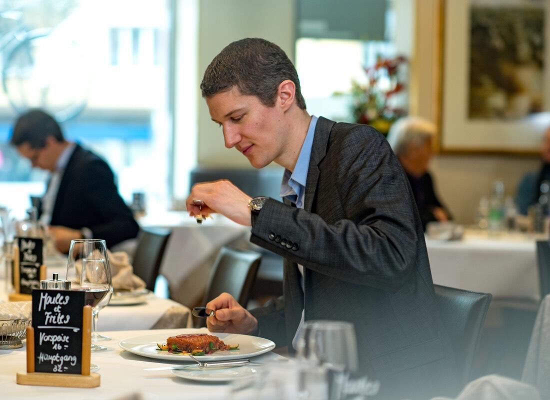 Restaurant guest at Hotel Sternen Oerlikon in Zurich