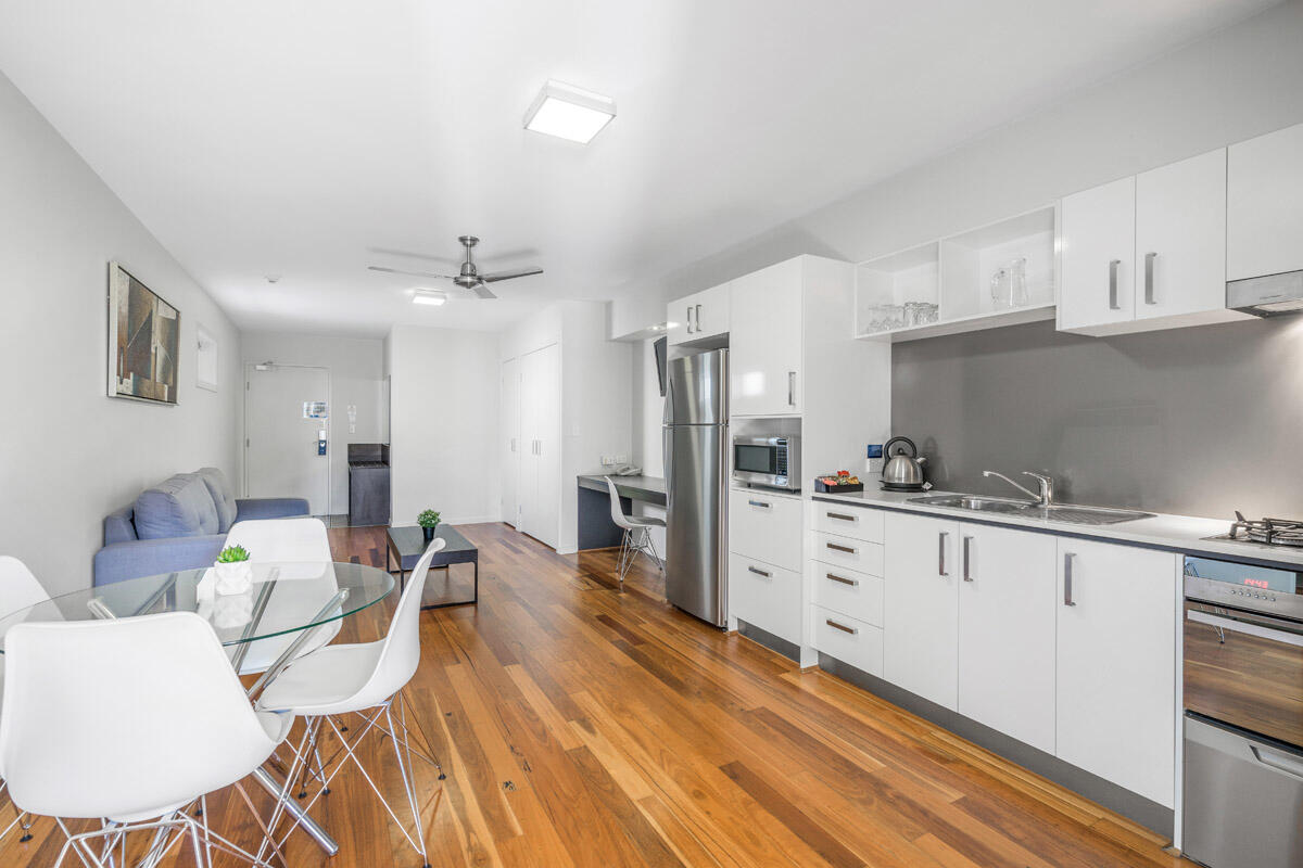 Two Bedroom Studio | Living Space | Serviced Apartments Brisbane