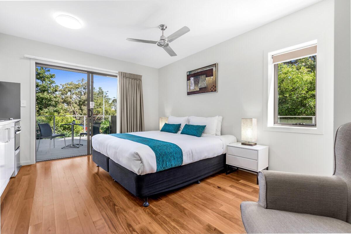 Studio Balcony | Serviced Apartments Brisbane | Essence Apartmen