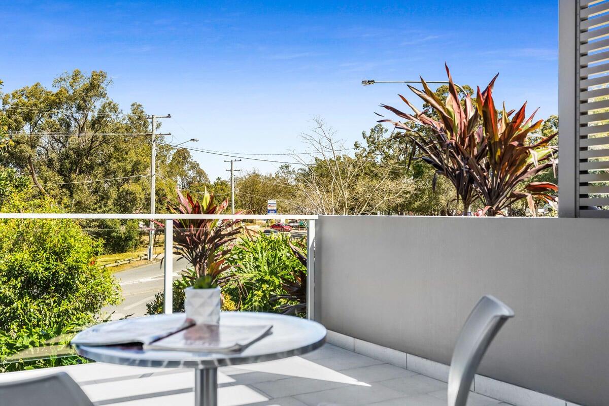 Studio Balcony | Balcony View | Serviced Apartments Brisbane | E