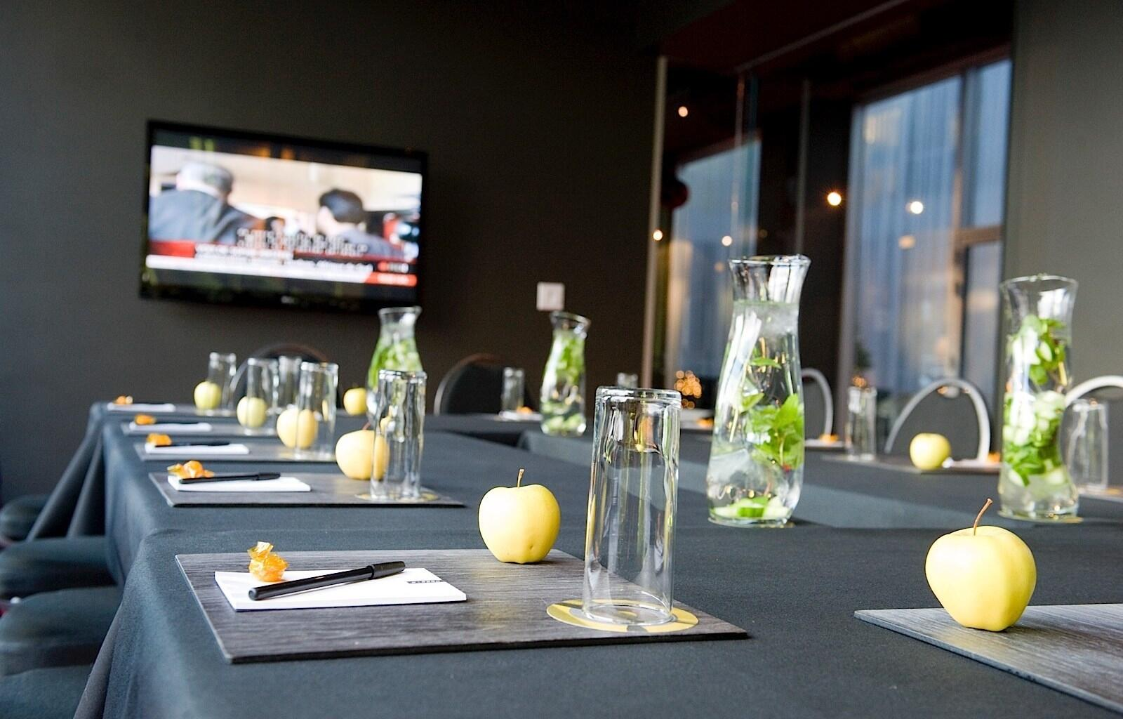Workshop Z Table Set for Corporate Event