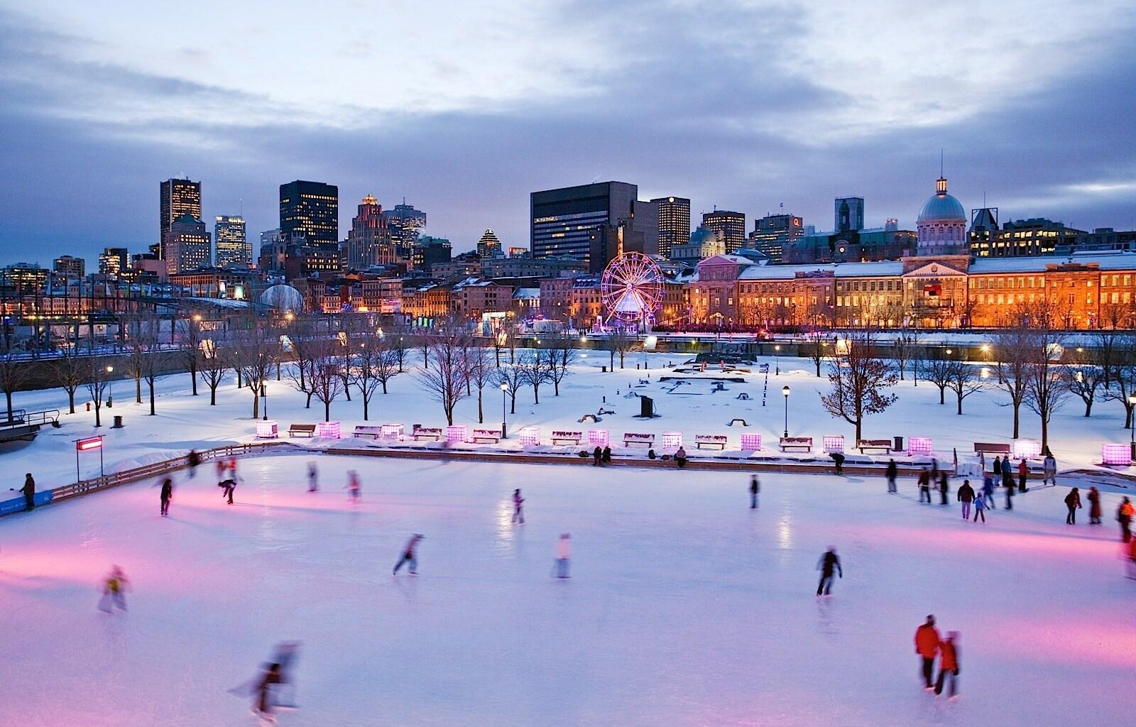 Ice Skaters at Quartier des Spectacles