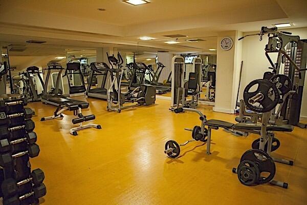 Fitness centre at Bilek Hotel Istanbul