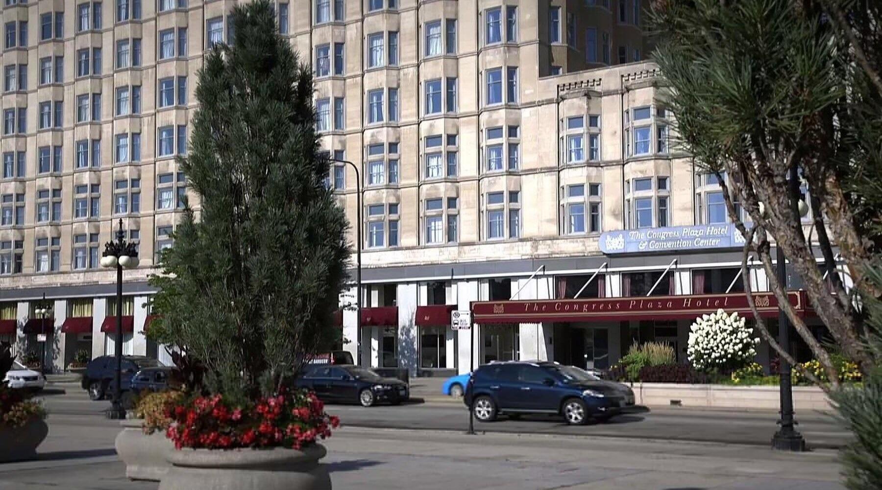 Congress Plaza Hotel Entrance
