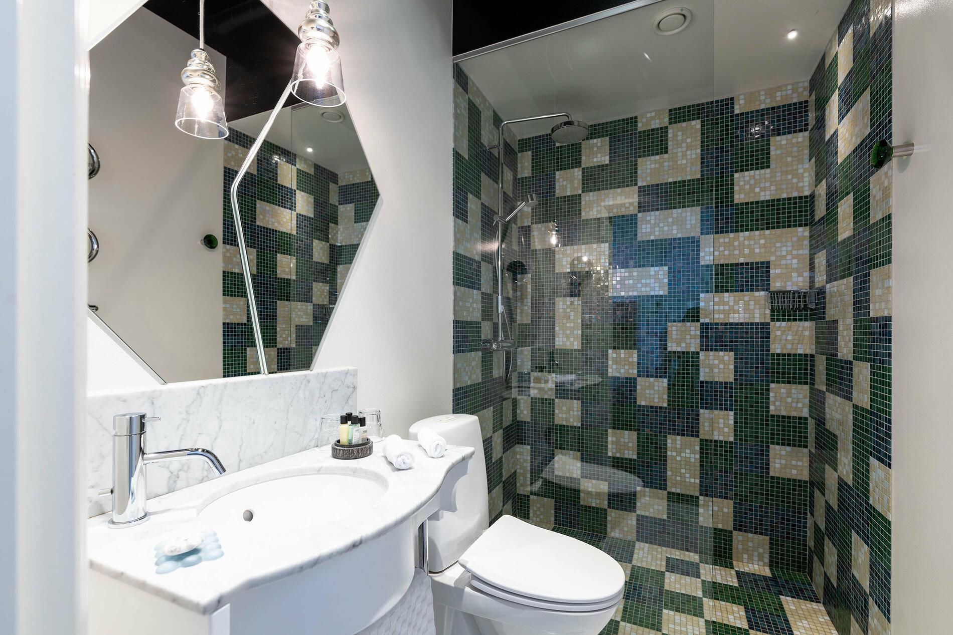 Bathroom at Hotel Flora in Gothenburg, Sweden