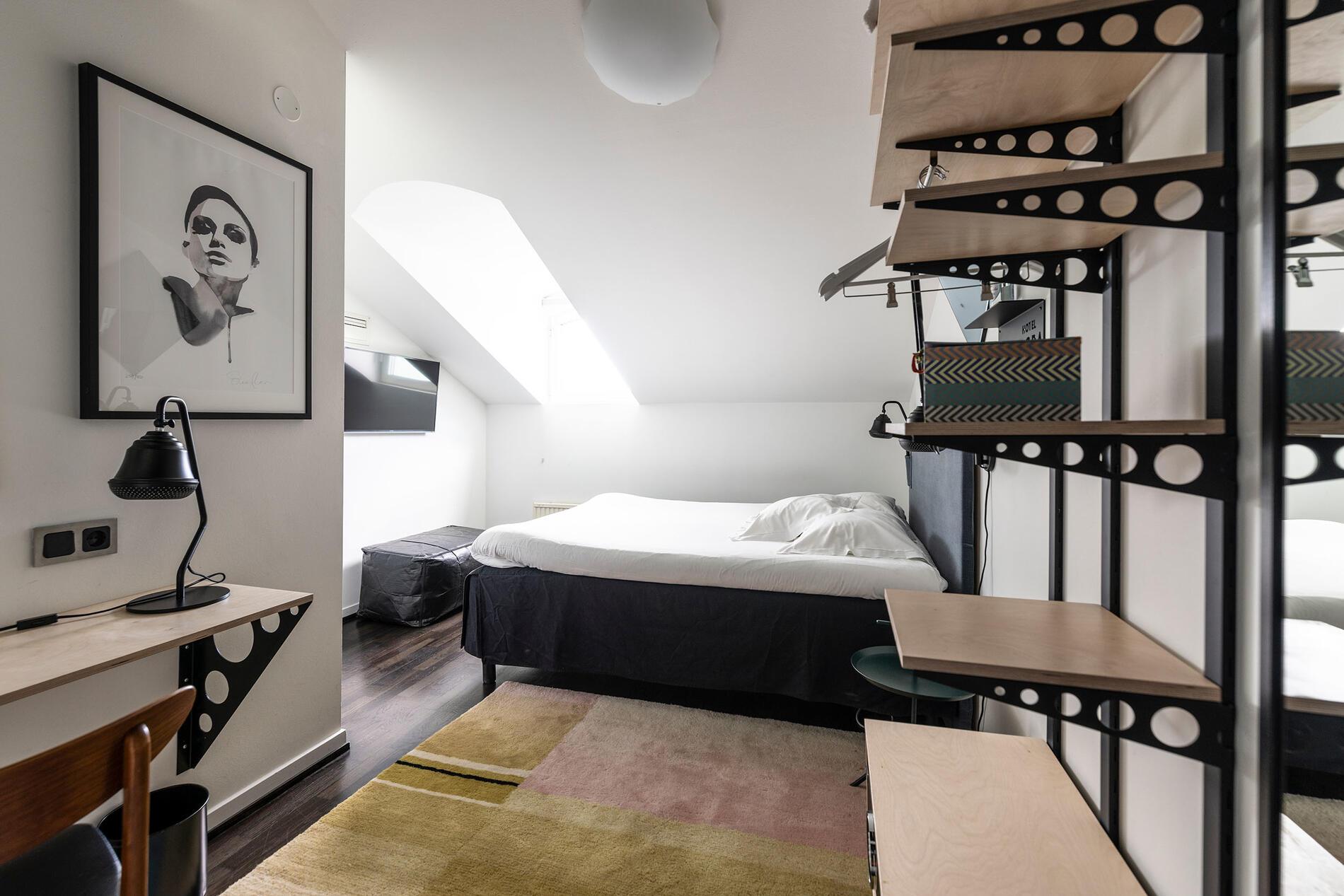Bedroom at Hotel Flora in Gothenburg, Sweden