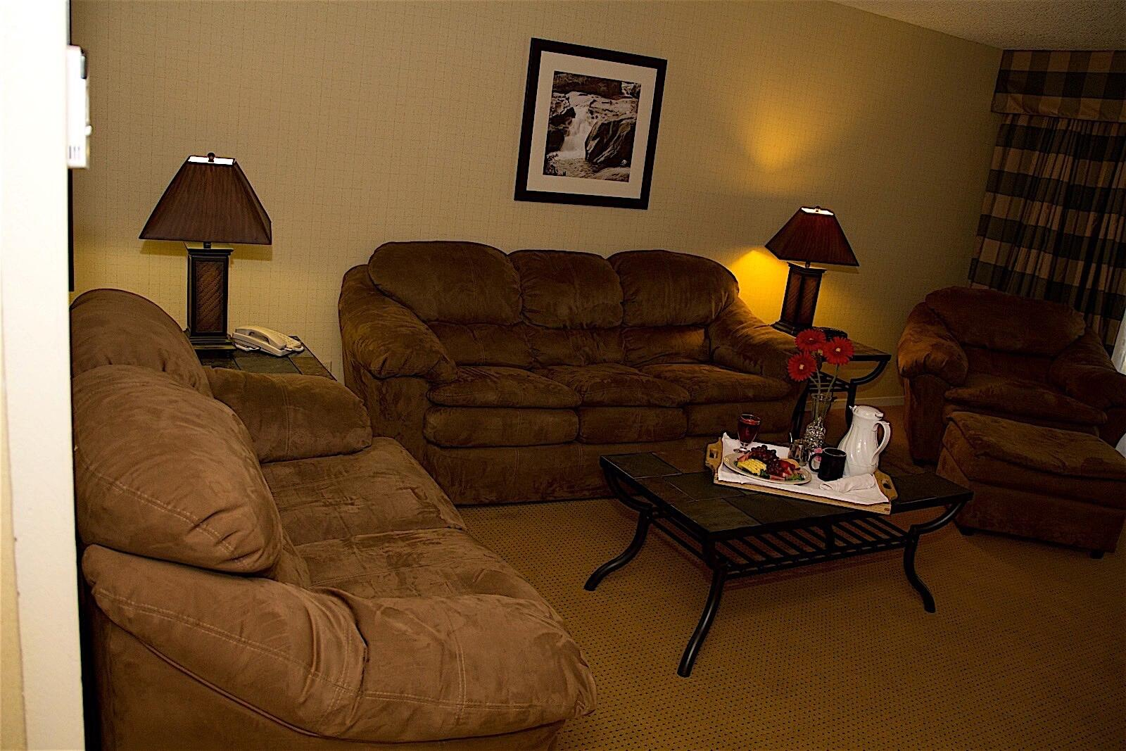 Deluxe Parlor Suite Sitting Area