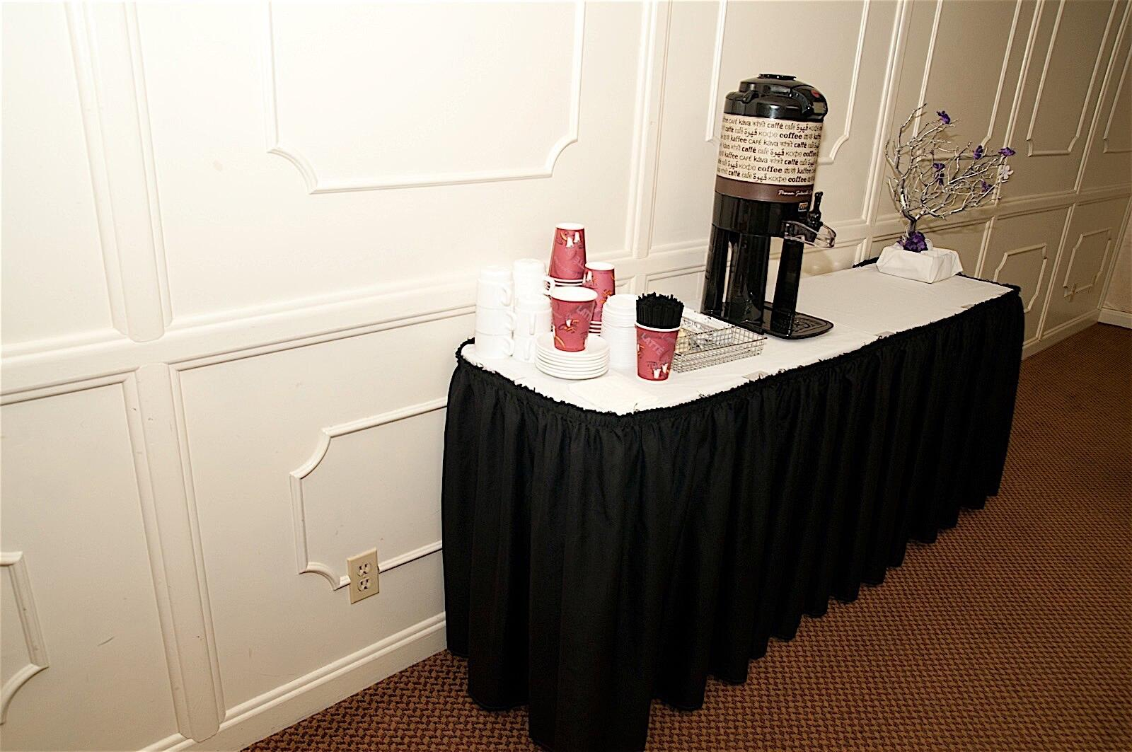 Coffee Setup in Hotel Fresno Meeting Space