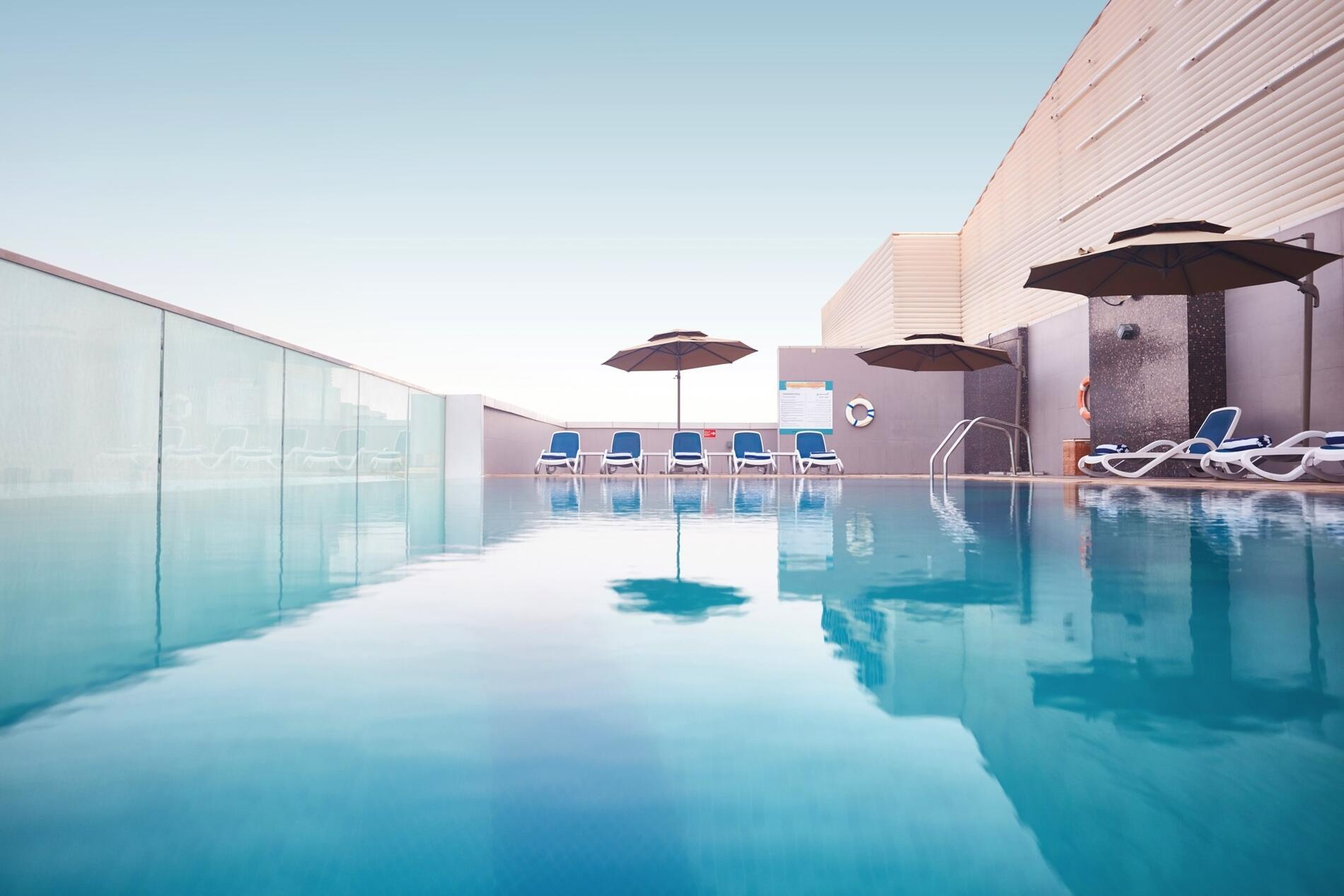 Rooftop Pool at Treppan Hotel and Suites