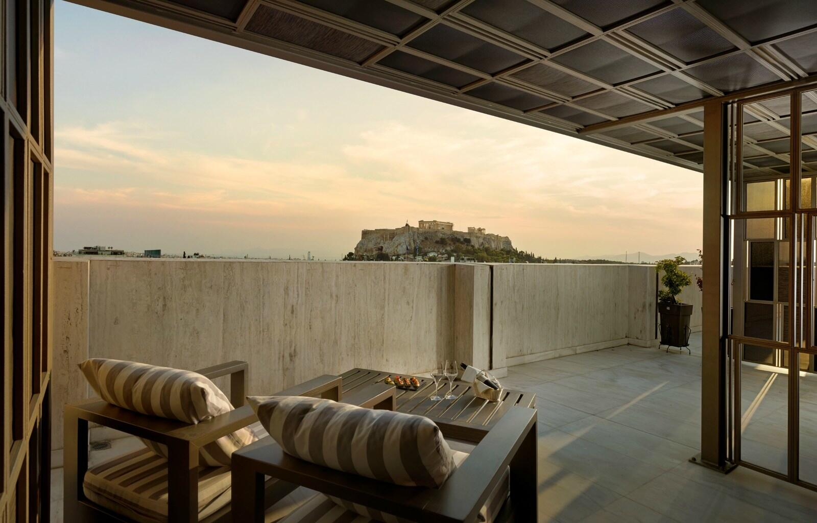 Sunset Terrace View NJV Athens Plaza