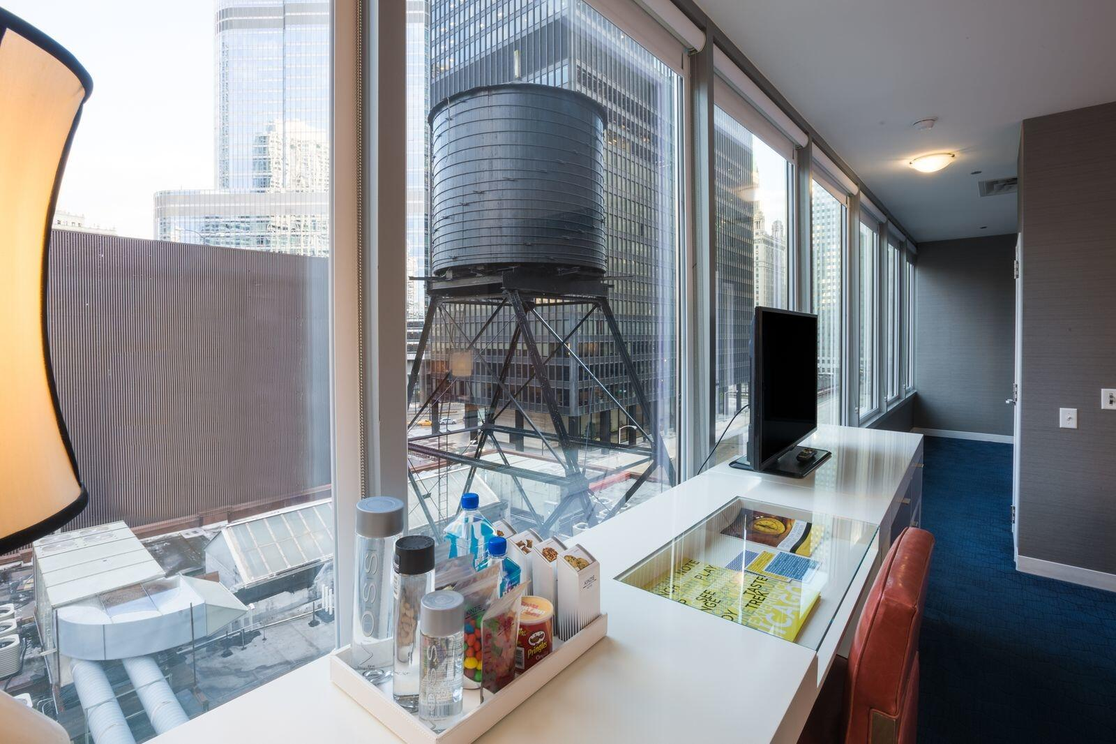 Corner King Room with Water Tower View