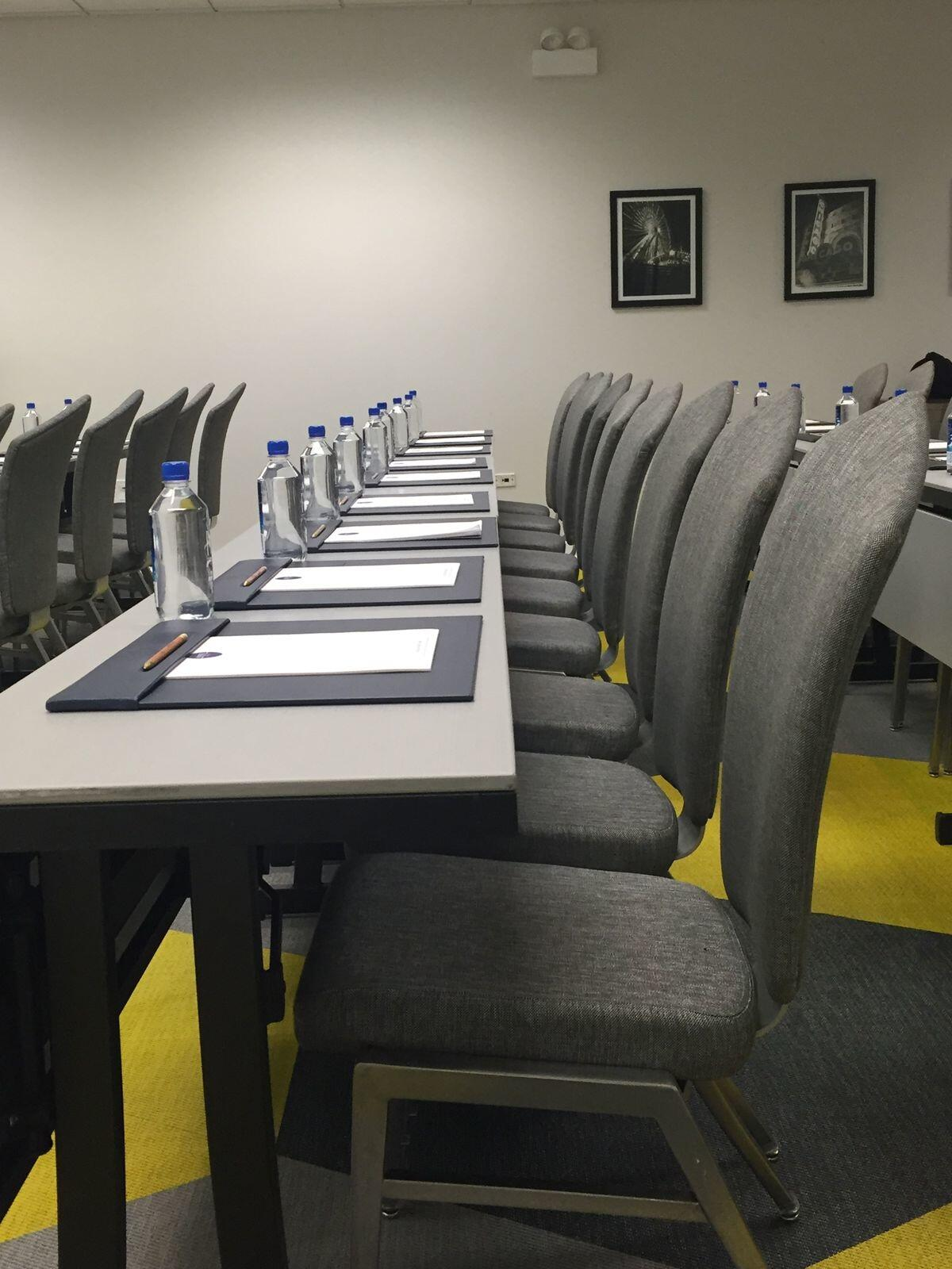 Classroom Setup in Kinzie Hotel Conference Room